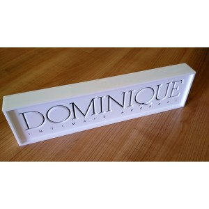 Dominique Bespoke Acrylic Bradning Block